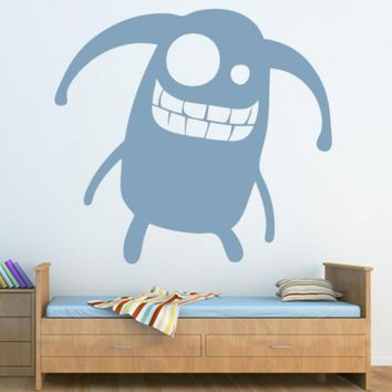 Wall Vinyl Decal Sticker Bedroom Decal Nursery Kids Baby Monster Funny  z650