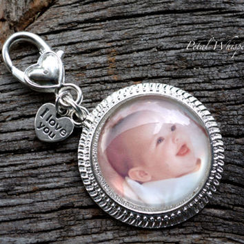Custom Photo Keychain Clip- Photo Keepsake - Personalized Photo Gift - Gifts Under 20 - Custom Photo Key Charm - Photo key Pendant