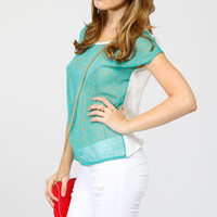 Two Tone Cut Out Top