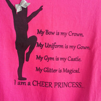 Hot Pink Cheer Princess Tshirt (Youth)