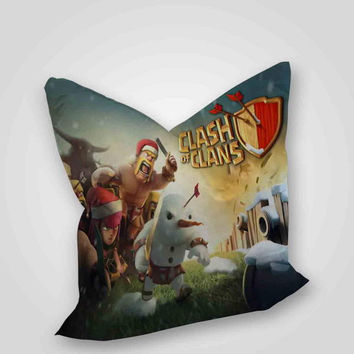 Clash Of Clans Crhistmas, pillow case, pillow cover, cute and awesome pillow covers