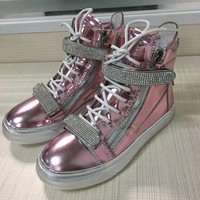 Giuseppe Zanotti Women's Leather Fashion High Top Sneakers Shoes