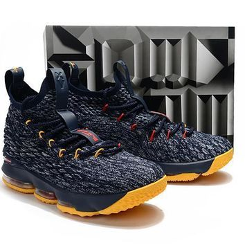 Fashion Online Nike Lebron James 15 Xv Navy Basketball Shoe Us7-12