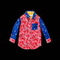 UNIONMADE - Alex Mill Boys - Bandana Print Shirt in Red Blue and Yellow