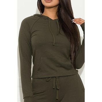 Set You On Track Sweater Olive