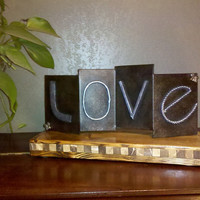 Rustic Love TableTop Centerpiece Decoration