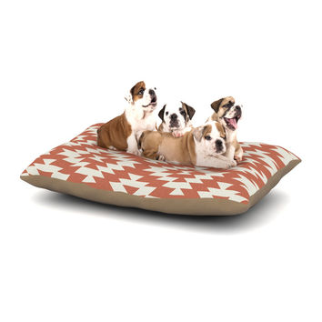 "Amanda Lane ""Southwestern Toasted Coral"" Red Tribal Dog Bed"