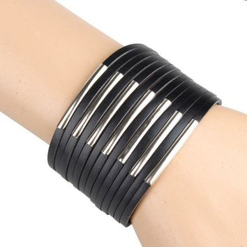 VONESC6 PU leather bracelets & bangles high quality cool leather bracelet men Casual Style fashion men's jewelry factory price C217-C218