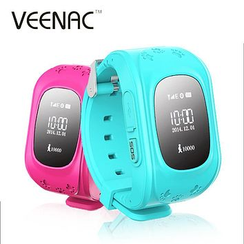 VEENAC Q50 GPS Smart Kid Safe Smart Watch SOS Call Location Finder Locator Tracker for Child Anti Lost Monitor Baby Wristwatch
