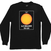 Sun Facts black long sleeve graphic tee