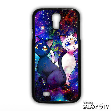 Sailor Moon Luna And Artemis Cat for phone case Samsung Galaxy S3,S4,S5,S6,S6 Edge,S6 Edge Plus phone case