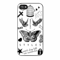 One Direction Harry Styles Tattoos iPhone 5s Case
