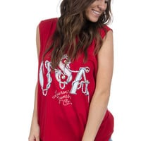 Lauren James: USA Pearl Tank {Red}
