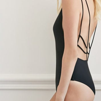 Strappy Open-Back One-Piece