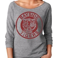 Womens Bayside Tigers Saved By the Bell Kelly Kapowski Terry 3/4 Sleeve T-Shirt