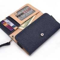 Apple Touch 5th Generation Wallet Wristlet Clutch with Coin Money Zipper Pocket and Three ID Credit Card Compartments. Includes one Detachable Wrist Strap. Color: Coral / Salmon (ESMLMTPC)
