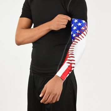 Tactical USA Flag Arm Sleeve from SLEEFS | Baseball Attire