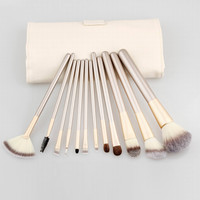 12-pcs Beige Professional High Quality Fashion Hot Sale Brush [6050184257]