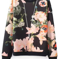 Floral Pattern Long Sleeve Sweatshirt
