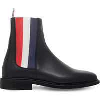 THOM BROWNE Tricolour panel leather Chelsea boots