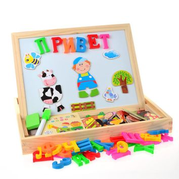 Russian Alphabet Letter Animal Magnetic Puzzle