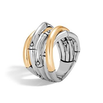 John Hardy Bamboo Gold Sterling Silver Ring | Nordstrom
