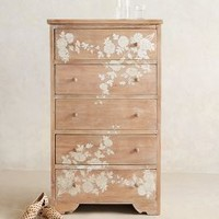 Pearl Inlay Five-Drawer Dresser by Anthropologie in Neutral Size: One Size Furniture