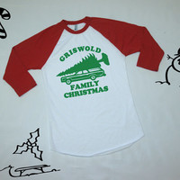 Griswold Family Christmas baseball shirt. Holiday baseball tee. Christmas baseball shirt. National Lampoons Family Vacation shirt. gift