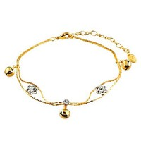 Graduation Gifts Ankle Bracelet with Crystal Birthstone/Flower/fruit Anklet Italy-*various Styles*