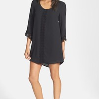 Women's ASTR Lace Trim Shift Dress,