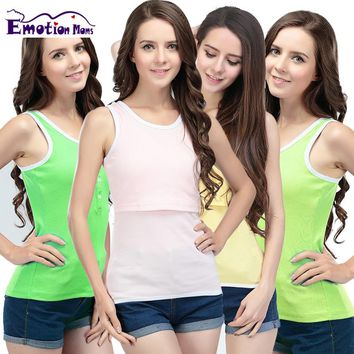 Emotion Moms Summer Maternity Clothes Breastfeeding Tank Tops Nursing Top Breastfeeding Clothes for Pregnant Women Maternity top