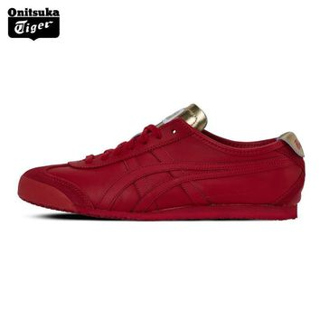 qiyif 2017 ONITSUKA TIGER MEXICO 66 Men's Shoes Breathable Leather Woman Sport Shoes Sneakers Lightwei Trainers Athletic Shoes D7C3L