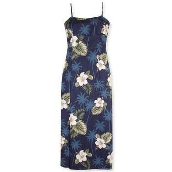 hilo hawaiian long spaghetti dress