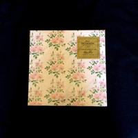 Pink Flowers Gift Wrap - Forget Me Not - Vintage 1960 - All Occasions - 2 Sheets - Flat Gift Wrap - Original Seal Package