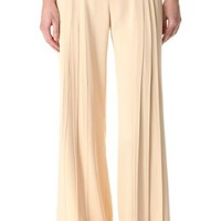 Zac Posen Pintuck Wide Leg Pants | SHOPBOP