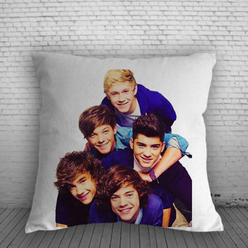 One Direction Band for Square Pillow Case 16x16 Two Sides, 18x18 Two Sides, 20x20 Two Sides