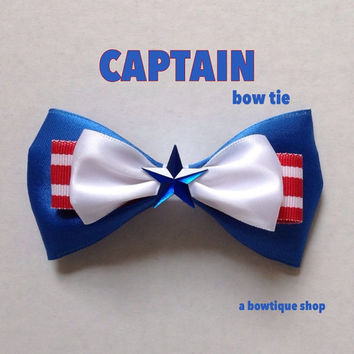 captain clip on bow tie