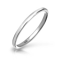 Bling Jewelry .925 Sterling Silver Wedding Band Thumb Toe Ring 2mm