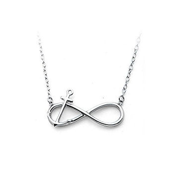 Infinity Anchor Stainless Steel Pendant Necklace