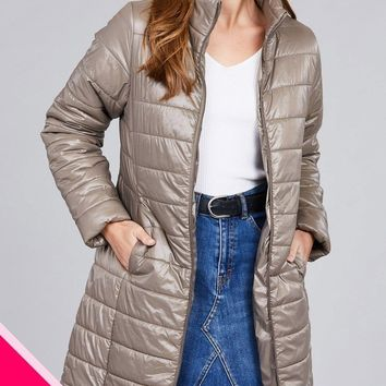Quilted Long Padded Jacket