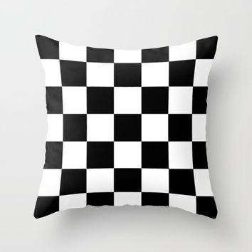 #3 Chessboard, squares Throw Pillow by Minimalist Forms