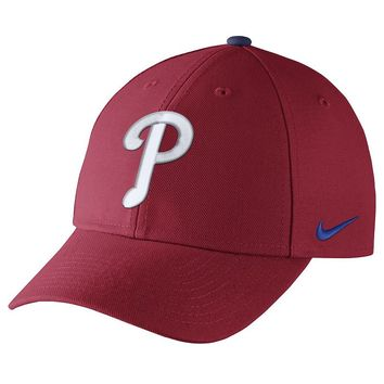 Nike Philadelphia Phillies Dri-FIT Wool Classic Baseball Cap - Adult, Size: One Size (Red)