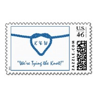 Tying the Knot- Modern Wedding Invitations Postage Stamp