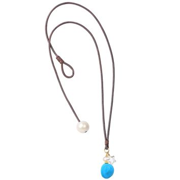 Turquoise Lonestar Charm Necklace