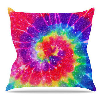 The Tie Dye Galaxy Pillow in Multi