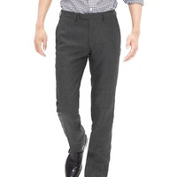 Banana Republic Mens Modern Slim Fit Gray Linen Suit Trouser