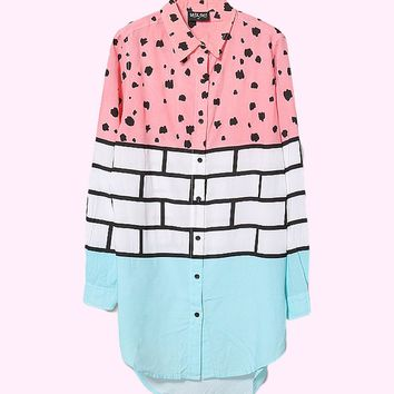 Lazy Oaf Brick Scribble Shirt