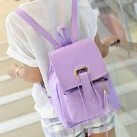 New European And American Style Pu Leather Women Backpacks Outdoor Double Shoulder Bags Travel Bag Cute School Backpack Mochila