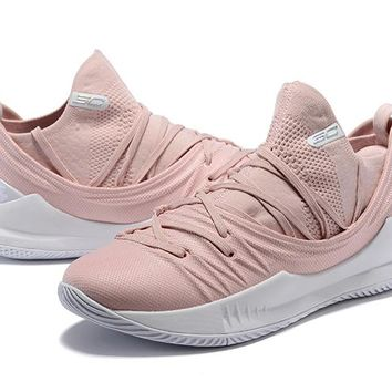Under Armour UA Curry 5 Pink Basketball Shoe