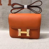 Hermes Women Leather Shoulder Bag Satchel Tote Bag Handbag Shopping Leather Tote Crossbody Satchel Shoulder Bag